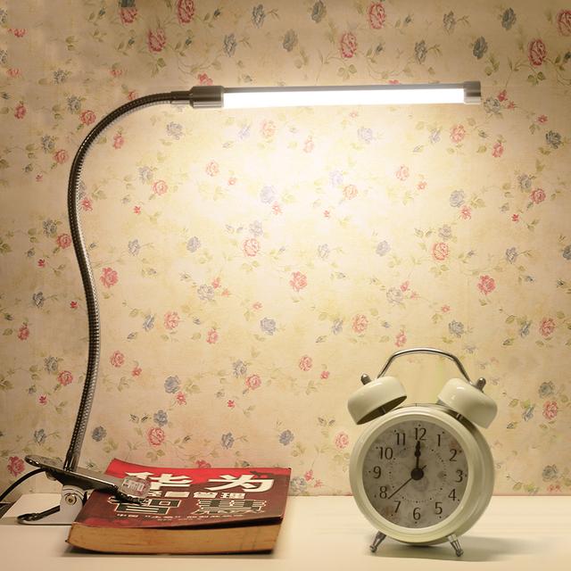 Luz CONDUZIDA Da Mesa tablelights Braçadeira lâmpada clipe de Cabeceira Lâmpadas Para Leitura Estudo
