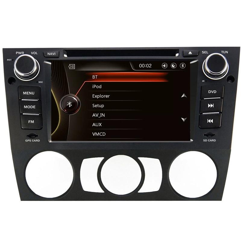 Емкостный Экран 7 дюймов dvd-плеер автомобиля для <font><b>BMW</b></font>/<font><b>E90</b></font>/E91/E92/E93/318/ 320/325 Canbus Радио GPS навигации <font><b>Bluetooth</b></font> 1080 P Ipod Географические карты