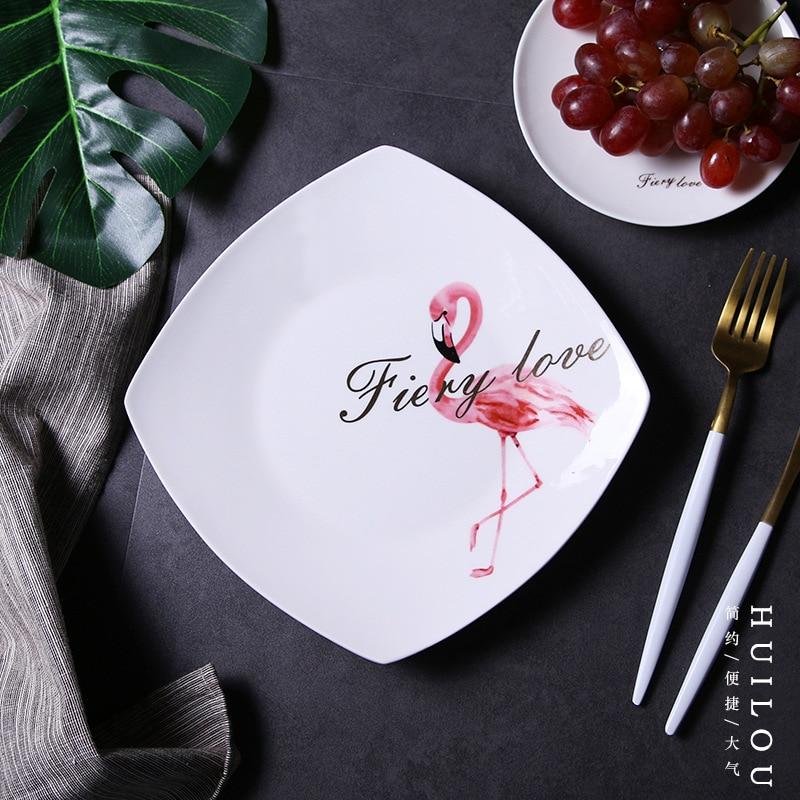 9.5Inch Porcelain Ceramic Dinner Plates White Porcelain Tray Dishes For Restaurant Serving Plate Dessert Food Plate-Serving