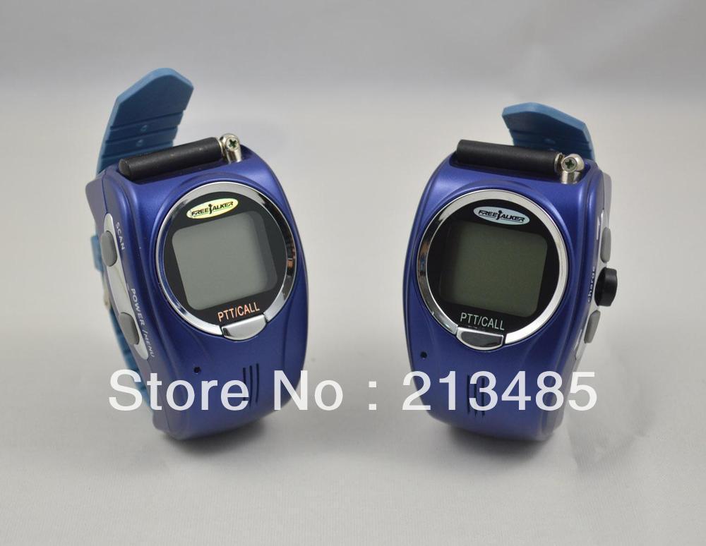 imágenes para Reloj de pulsera de Walkie Talkie I-009 con banda ajustable ( ee . uu . : 22 canal, europa : 8 Cahnnels ) transmisor libre 2 unids/par