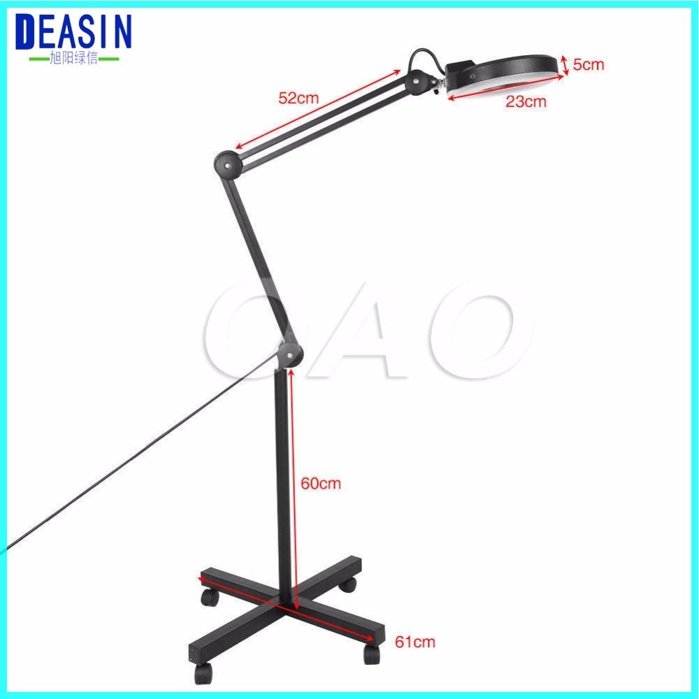 Купить с кэшбэком 2018 good quality 5X Shadowless Vertical Stand Adjustable  Cold Light Beauty Magnifying Lamp for Beauty Salon Nail Tattoo