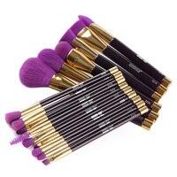 Melhor Venda MAANGE 15 pcs Makeup Brushes Set Pó Contour Concealer Foundation Sombra Delineador Lip Smudge Brush Tool