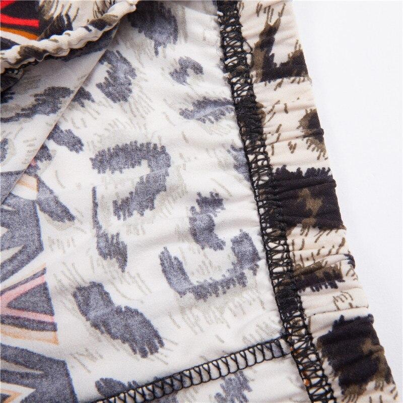 Wiele stylów rekreacyjnych fitness legginsy kwiatowe leopard Skinny - Ubrania Damskie - Zdjęcie 5