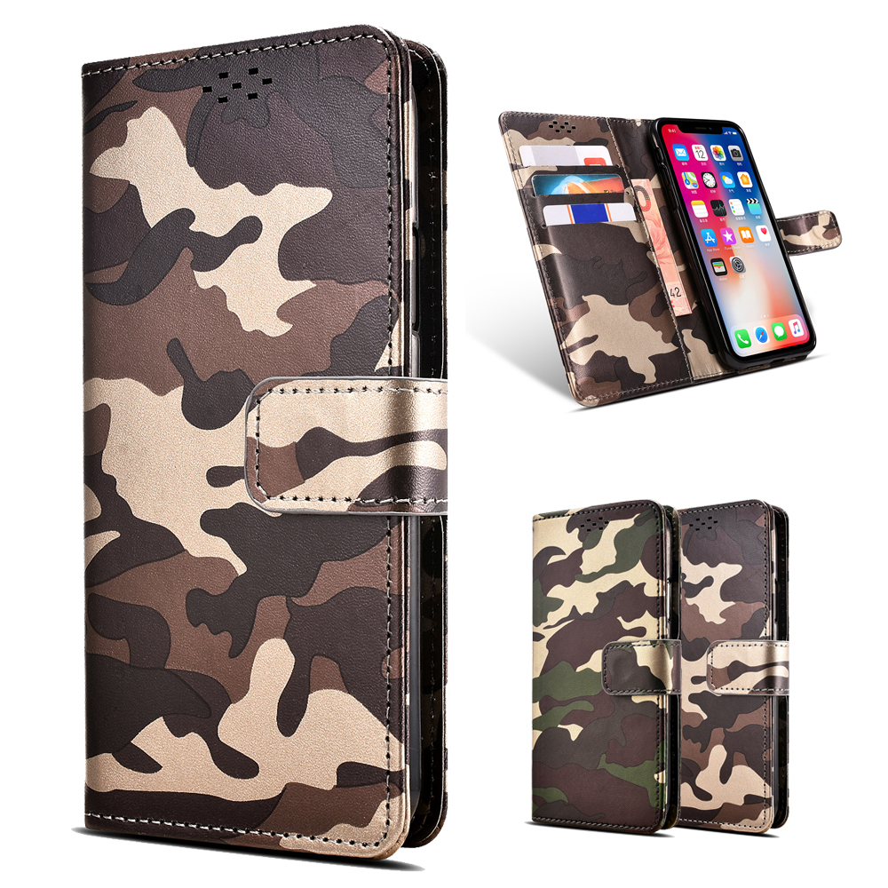 Camouflage Pattern Case For Google Pixel 3 Wallet Card Holder PU Leather Cover Coque Case For Google Pixel 3 XL Case