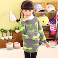 2-12Y Fashion Baby Girls Clothes Set Horse Print Sweater + Skirt 2 Piece Set Spring Autumn Winter Kids Girls Clothing Sets