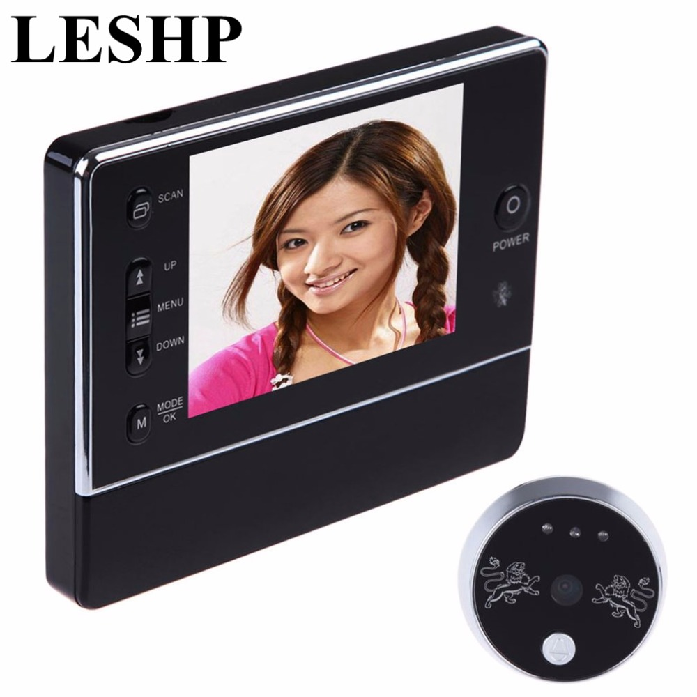 3.5 LCD Digital Wireless 120 Degree Doorbell Peephole interfone Viewer Camera DVR Night Vision 3 X ZOOM LCD Display Security 2 4 inch doorbell peephole viewer lcd screen multifunction security camera 120 degree angle view