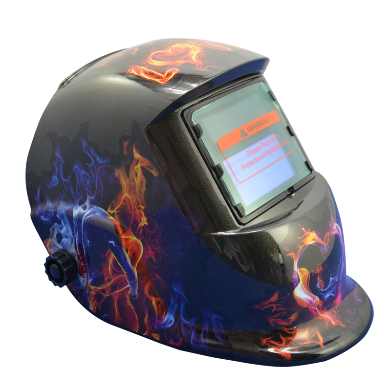 automático capacete de soldagem marca crânio solda