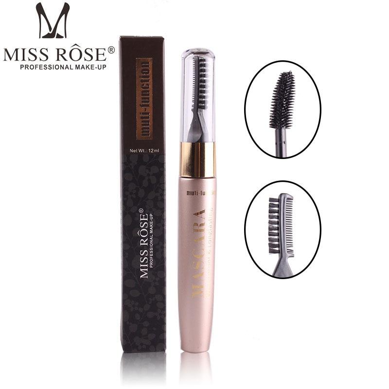 2 IN 1 Waterproof Multifunctional 3D Mascara Natural Curl Not Knot Mascara Length Extension Enlarge Eyes Makeup Tools 12ML
