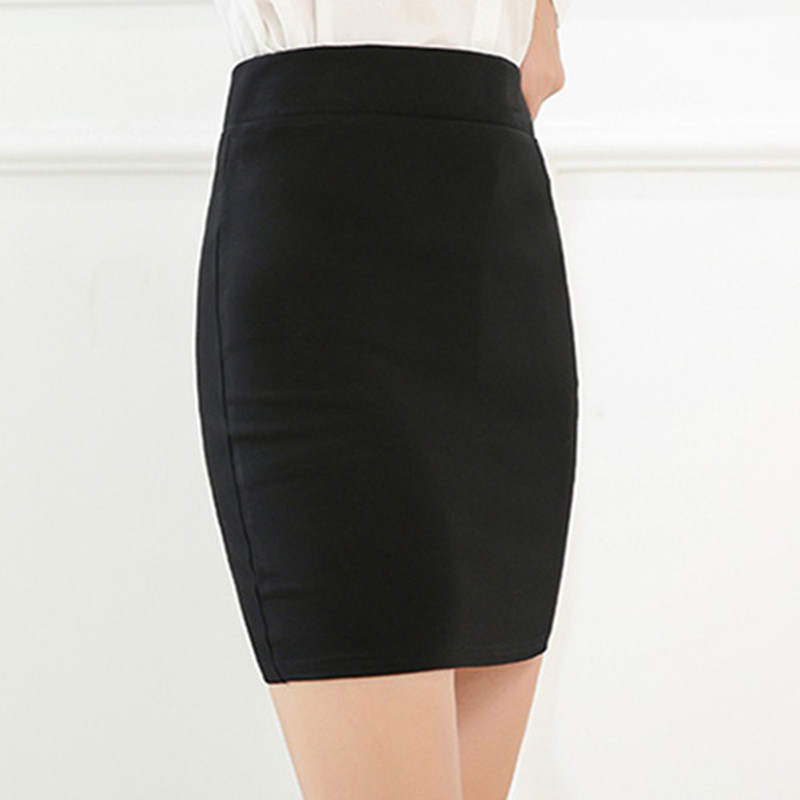 Image 2 - 2018 new Fashion Spring Office  Basic Skirts  Pencil Skirt High Waist  Stretchy Skirts-in Skirts from Women's Clothing