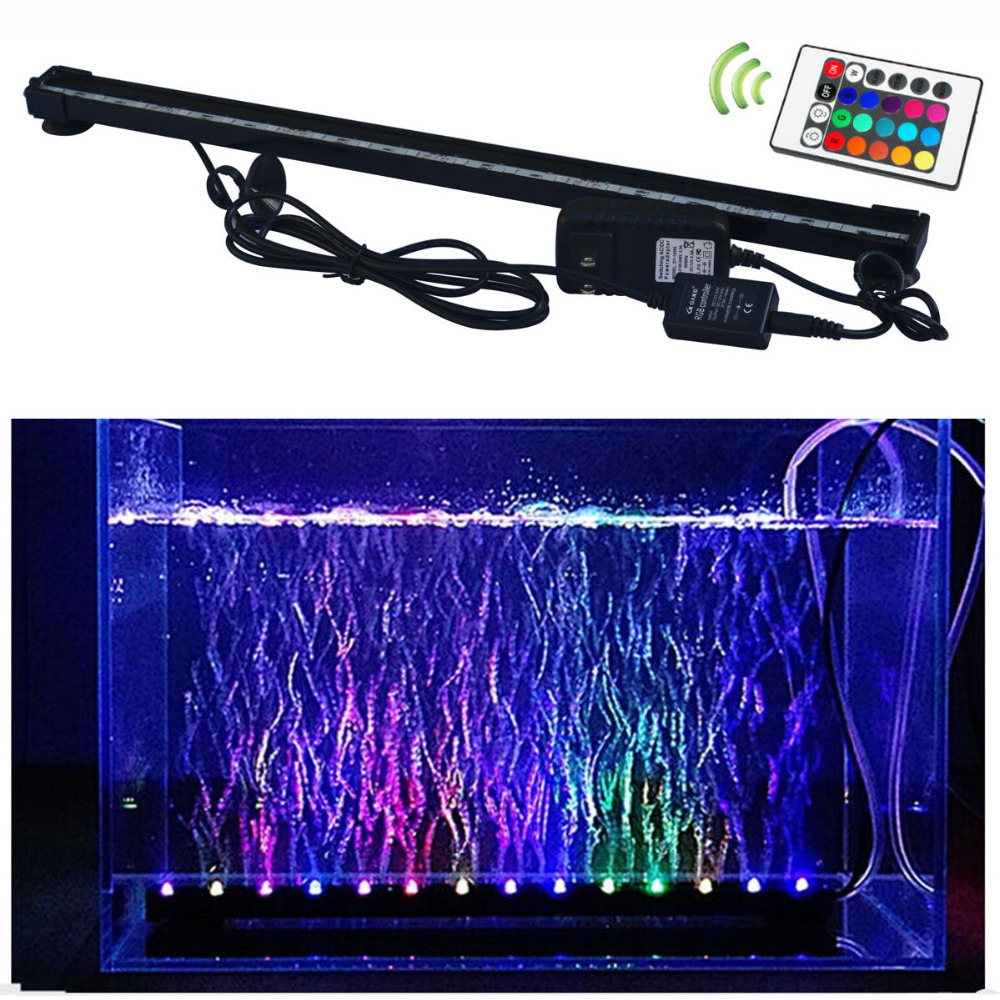 6W 18led RGB AC100-240V Fish Tank Plant Aquarium Led light Underwater Bubble Light Lamp With Remote aquarium led lighting remote control color fish tank bubble lamp fish tank diving lamp led oxygen lamp aquarium led lamp