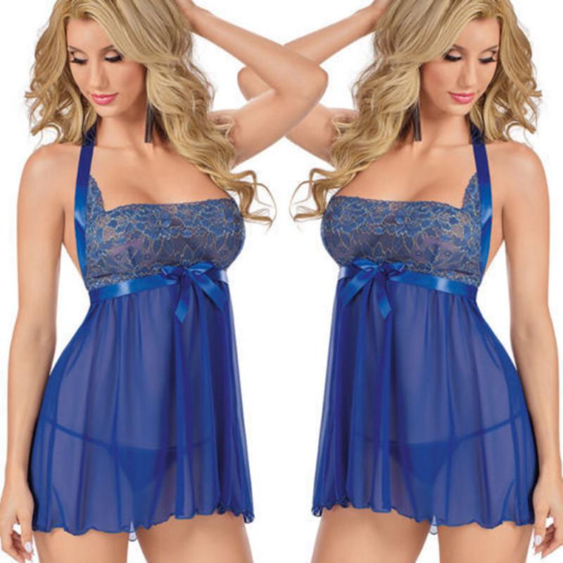HTB1JnvfLZfpK1RjSZFOq6y6nFXaA Picardías de encaje transparente para mujer, ropa de dormir de talla grande 6XL, Sexy, camisas para dormir