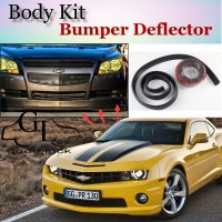 Bumper Lip Deflector Lips For Chevrolet Camaro 1982~2015 Bumblebee Spoiler Scratch Proof Adhesive Recommend Body Kit + Strip