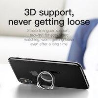 Baseus Metal Finger Ring Holder For iPhone Samsung Mobile Phone Ring 360 Degree Mount Holder Stand For Magnetic Car Phone Holder 3