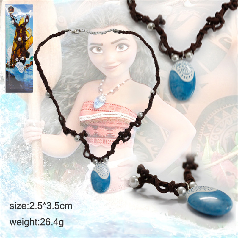 Cosplay Moana Princess Vaiana Brand Pendant Necklace Only Principessa Pendant Best Gift Cosplay Costume Props for kids and adult