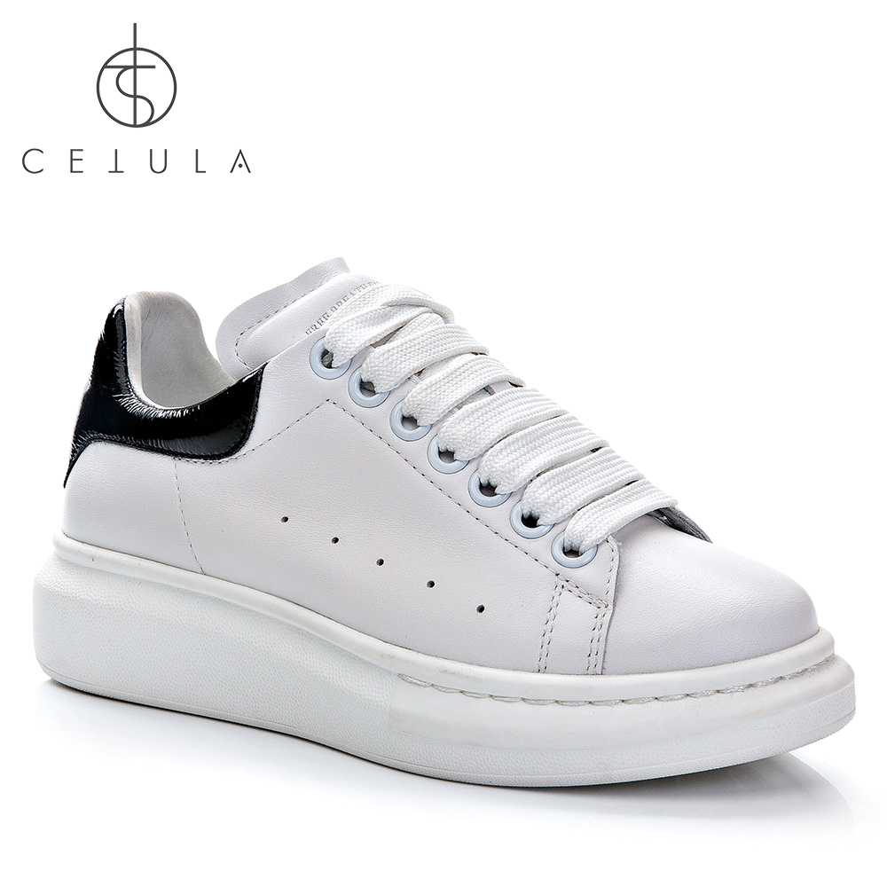 Cetula 2018 Handcrafted Női fehér sima borjúbőr bőröndes cipő - Női cipő