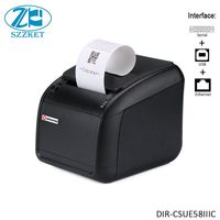 58mm Multi Interfaces Wired Desktop Receipt Printer with Auto Cutter Small ticket printer Thermal printer Automatic paper cut