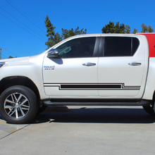 free shipping 2 PC side door rectangle stripe vinyl graphics decals for toyota hilux