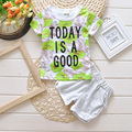 Calor! 2016 Nova Verão bebê Esporte terno 100% algodão design de moda bebê meninos conjunto de roupas de Marcas para 1 2 3 Anos de Idade livre grátis