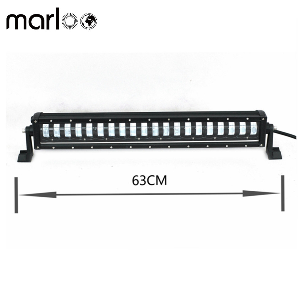 Marloo New LED Light Bar Single Row 24Inch 160W OffRoad Dual-mode DRL / Night Driving Lights Car Bar For Jeep ATV SUV Boat Truck keyshare dual bulb night vision led light kit for remote control drones