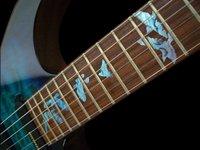 Fretboard Markers Inlay Sticker Decals For Guitar Bass Birds In Flight Blue Green