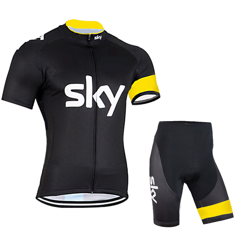 Cycling jersey bike shorts set breathable Ropa Ciclismo MTB bicycle sky team  wear mens Summer Quick Dry Bicycle  clothing