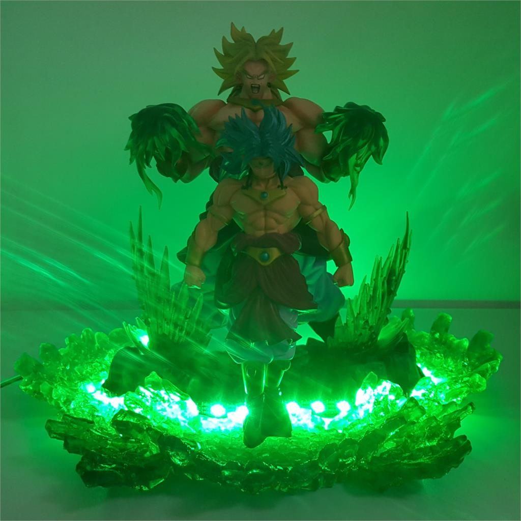 Bright Dragon Ball Broly 3d Rgb Color Changing Led Nightlight Visual Illusion Usb Dragon Ball Super Saiyan Action Figure Anime Dbz Toy Led Night Lights Led Lamps