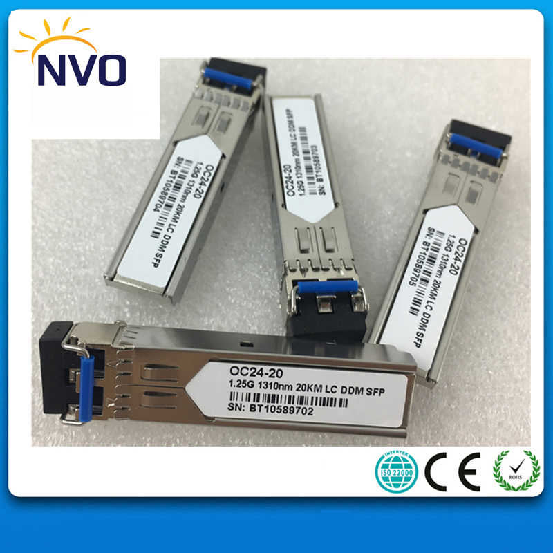 1.25Gb/s 1310nm,20Km LC SFP Transceiver,+3.3V,Single-mode, Dual Fiber,DDM,Compatitable with Standard Code,LC Fiber SFP Module1.25Gb/s 1310nm,20Km LC SFP Transceiver,+3.3V,Single-mode, Dual Fiber,DDM,Compatitable with Standard Code,LC Fiber SFP Module