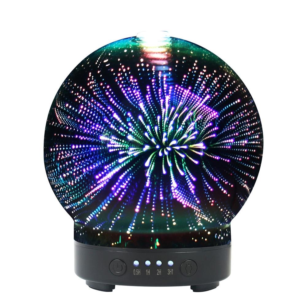 все цены на 3D Colorful Aromatic Night Light Aroma Essential Oil Diffuser 100ml Ultrasonic Cool Mist Humidifier with 8 Color LED Mood Lights онлайн