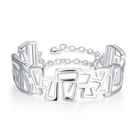 High Quality Wedding Engagement Jewelry 925 Sterling Silver Novelty Vogue Design Bracelets Woman Bangles