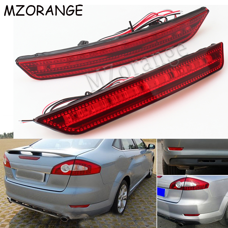 MZORANGE LED Rear Bumper Reflector Brake Light For Ford Mondeo Sedan 2007 2008 2009 2010 Car