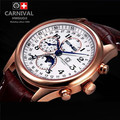 8needle multifunction relogio military sport waterproof mens mechanical watch gold luxury brand full steel leather strap watches