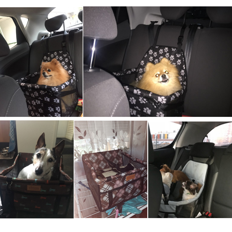 Dog Bag Basket Pet Products Fine Joy Pet Dog Carrier Car-carrying Car Seat Pad Safe Carry House Cat Puppy Bag Car Travel Basket #2