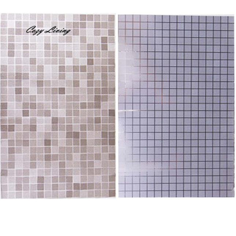 Wall Sticker Kitchen 1 PC Bathroom Toilet Waterproof Self-Adhesive Stickers Mosaic Tile Wallpaper Geometric Wholesale D28