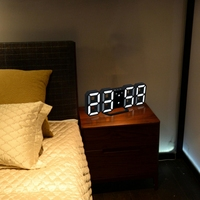 Digital Display LED 24/12 Hour Desk Clock Modern Digital LED Digital Wall Clock Table Desk Night Wall Clock