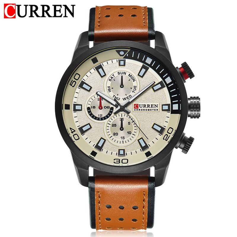 CURREN top brand design new fashion casual cool sport man clock military army business wrist quartz male luxury gift watch
