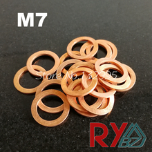 Copper washer M7 (7mm*11mm*0.8mm)  Flat Washer, Seal washer, Brass washers M3M22