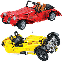Winner 7062 Technic red convertible car Arctic War Penguin Classic Car Building Blocks Bricks Compatible Legoings Children Toys