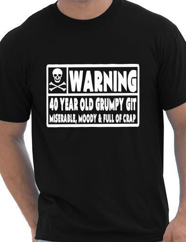 40 Year Old Git Mens Funny 40th Birthday Gift Fathers Day T Shirt More Size And Colors A302
