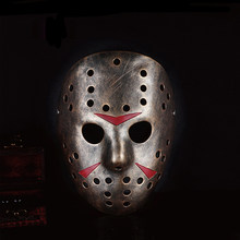 High-Grade Jason Resin Mask Voorhees Freddy Hockey Masquerade Party Mask Halloween Cosplay Full Face Masks For Adult Party Props(China)