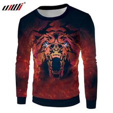 UJWI Mann Pullover Mode Lose Red tiger 3D Sweatshirts Gedruckt tier Casual Große Größe Kleidung Herbst Dropshipping(China)