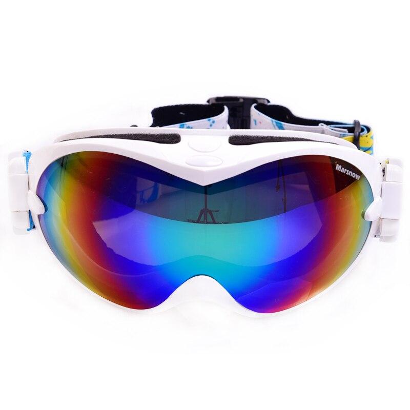 Prix pour Hommes Ski Snowboard Lunettes Femmes Classique Conception 100% UV Protection Anti Brouillard Lunettes de Ski Snowboard Masque Lunettes M266