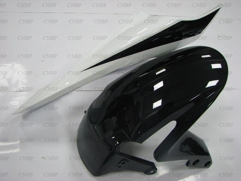 CBR 600 RR 2007 Kits de carénage CBR 600 RR 2007 2008 Kits de carrosserie noir blanc CBR 600 RR 07 carénage Abs - 4