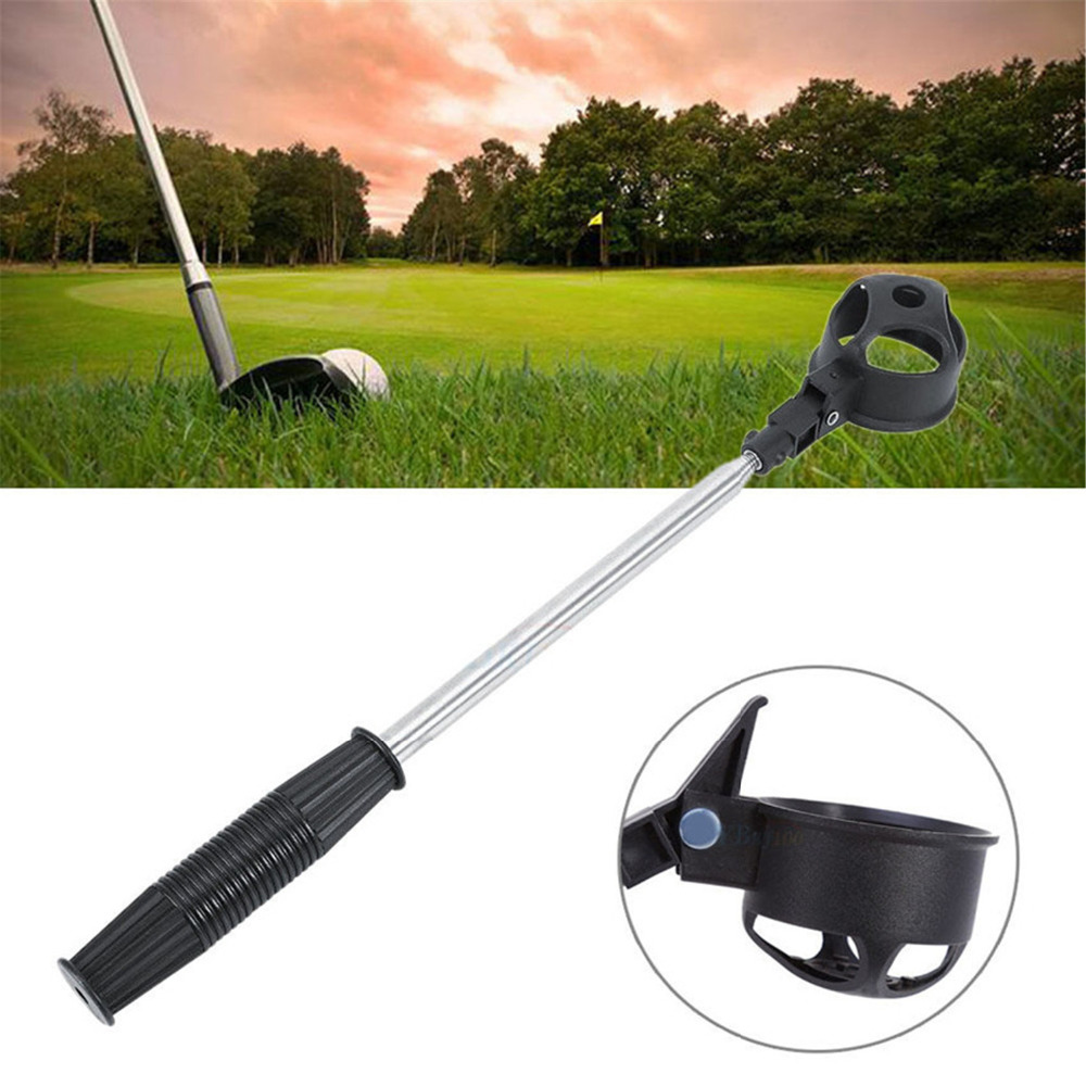 Finger Ten Golf Ball Pick Up 1 Pc Telescopic Retriever Picker Shaft Scoop Accessorie Picking Equipment 8 Section Top Quality