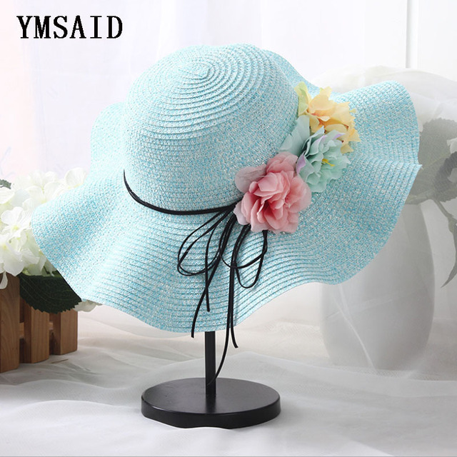 4c8c7a9d8dc 2018 Fashion Kids Straw Hat Childrens Summer Sun Caps Children Hats For  Girls Beach Hat Flower