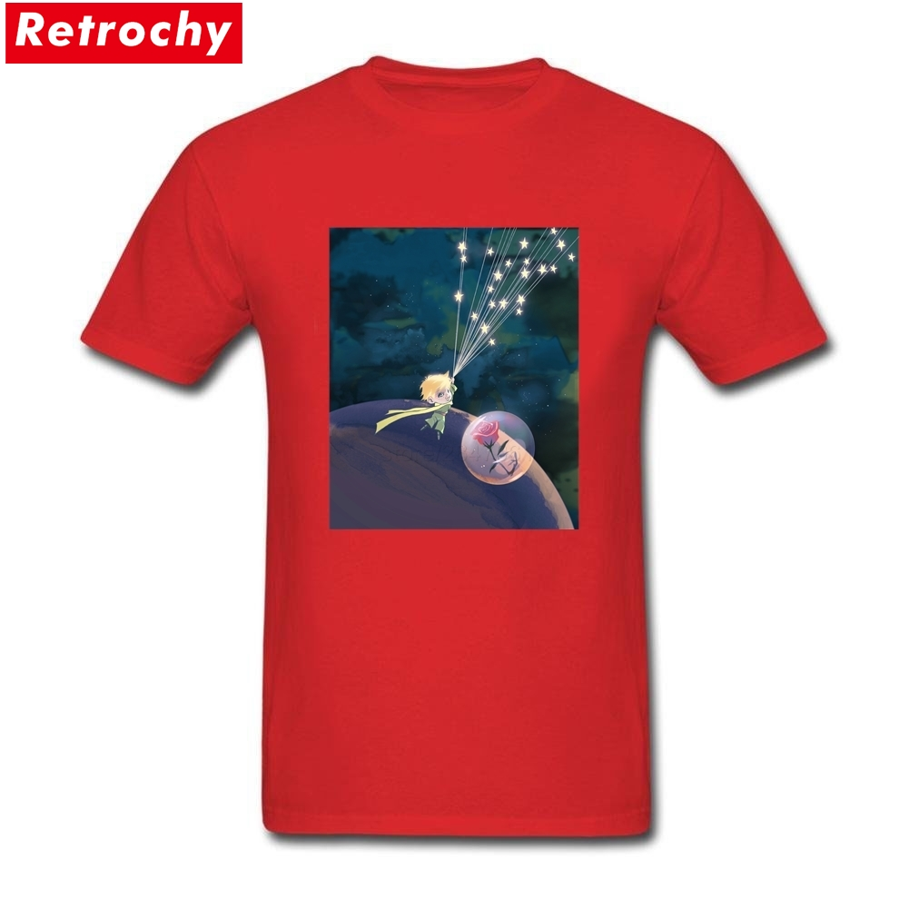 2017 Awesome The little prince T Shirt Design Mens Short Sleeve Guys Tees Shirts Organic Cotton Merchandise