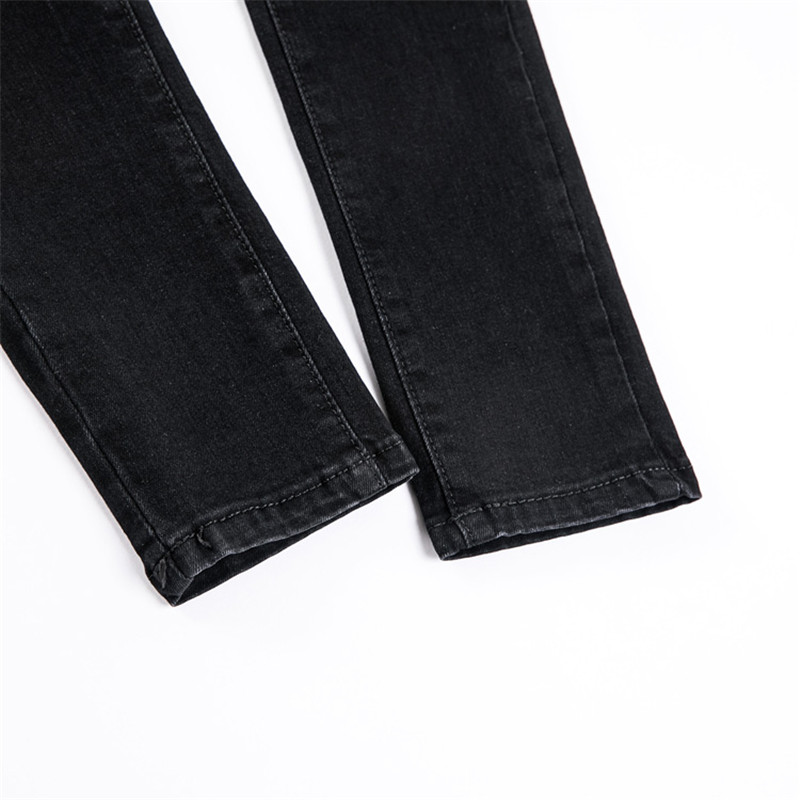 JUJULAND Jeans Female Denim Pants Black Color Womens Jeans Donna Stretch Bottoms Skinny Pants For Women Trousers 8175 17