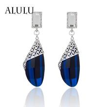 Crystal Earrings Silver Gifts