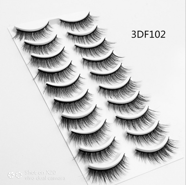 14d6389de9d 2018 NEW 10 pairs 100% Real Mink Eyelashes 3D Natural False Eyelashes 3d  Mink Lashes Soft Eyelash Extension Makeup Kit Cilios