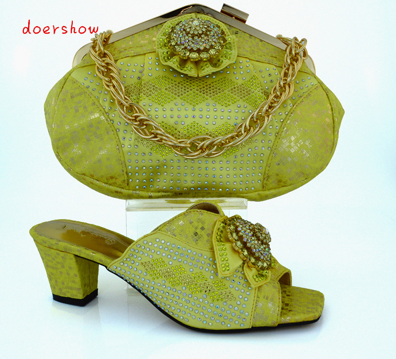 doershow Very Nice Italy Matching Shoes And Bag Set For Party Women Wear Fast Shipping Size 37-43!HVB1-44