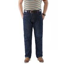 50 52 большой Размеры модные Повседневное Мужской Джинсовые штаны байкерские джинсы Лидер продаж Мотобрюки Хлопок Классический Прямые джинсы для мужчин